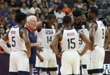 Players from the USA team in 2019 FIBA World Cup