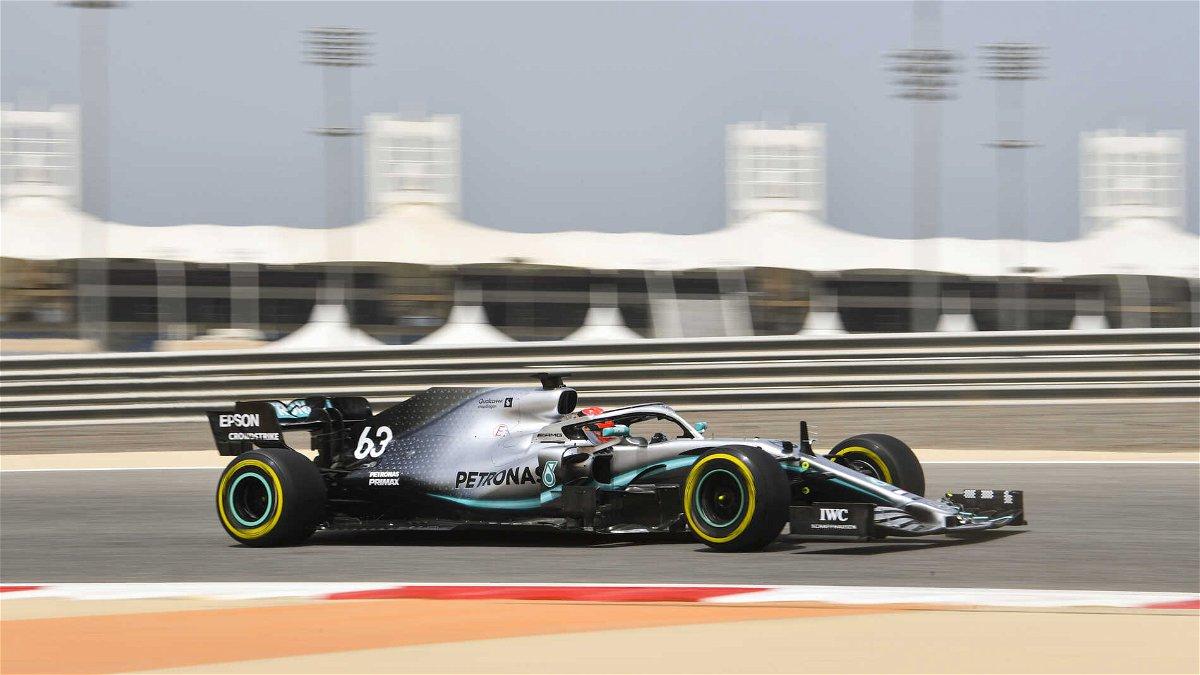 Mick Schumacher on track as test begins