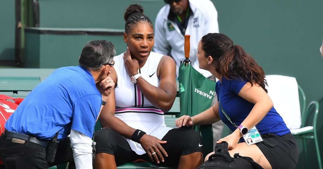 Serena Williams, Indian Wells 2019 retirement due to illness