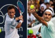 Daniil Medvedev and Roger Federer