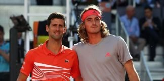 Novak Djokovic and Stefanos Tsitsipas