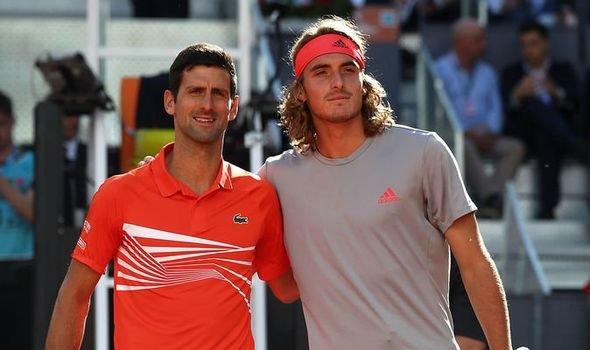 Novak Djokovic and Stefanos Tsitsipas