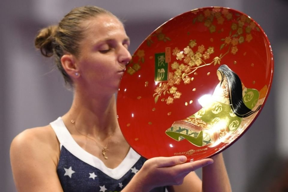 Pliskova with her 11th career title