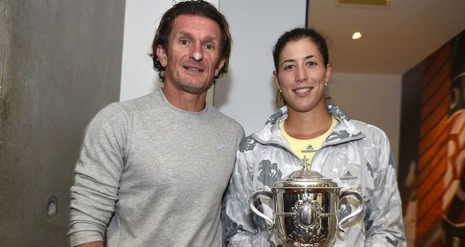 Garbine Muguruza, with Sam Sumyk