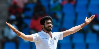 Jasprit Bumrah celebrating