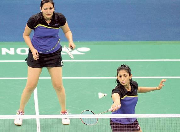 CWG Day 6 Badminton match.