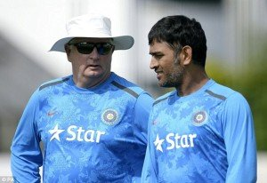 Dhoni and Fletcher