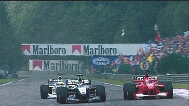 Hakkinen vs Schumacher at Spa,2000