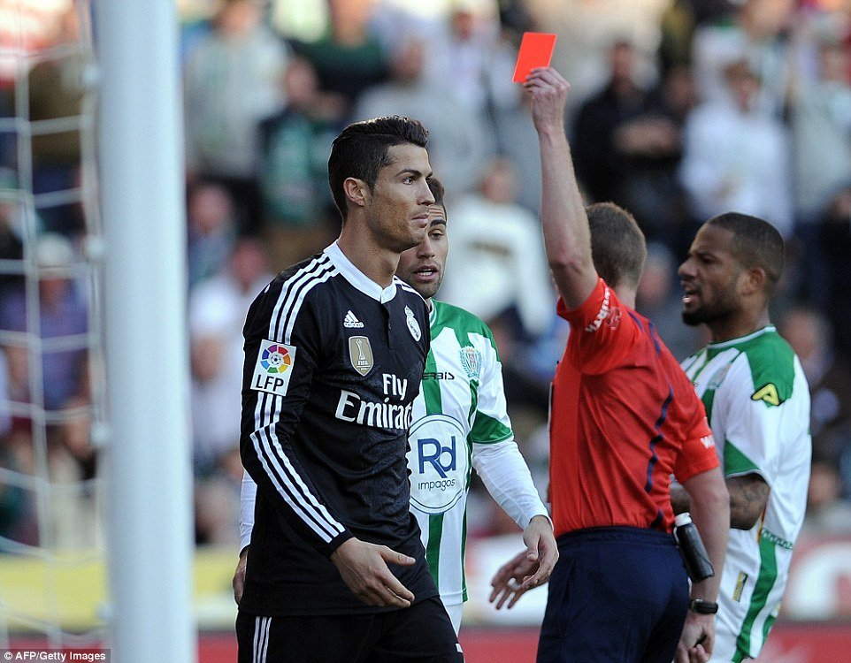 Cristiano Ronaldo Red Card - Hit & Punches