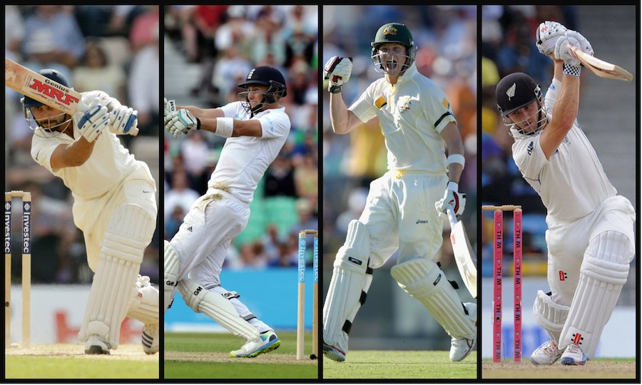 Virat Kohli,Joe Root,Steven Smith,Kane Williamson