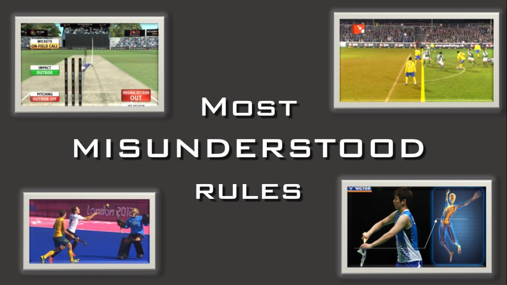 Misunderstood Rules in Sports