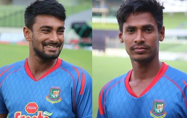 Wicket-keeper-batsman Litton Das and left-arm pacer Mustafizur Rahman