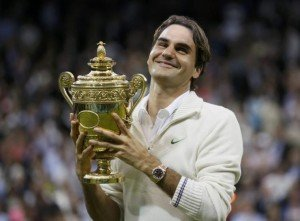 Federer after his 2012 triumph