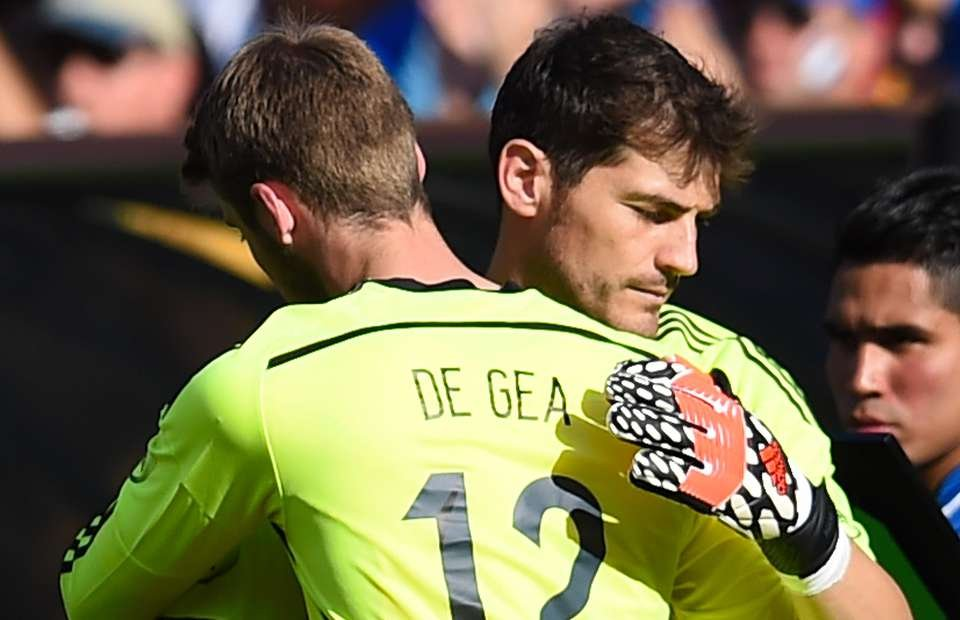 Iker Casillas and De Gea