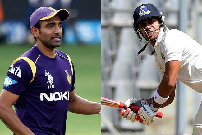 Robin Uthappa Manoj Tiwary make comebacks to the Indian Team