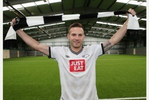 Andreas Weimann unveiled as a Derby County New Signing at Moor Farm Training Centre.