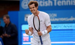 Tennis - Aegon Championships - Queens Club, London - 16/6/15 Men's Singles - Great Britain's Andy Murray celebrates after winning his first round match Action Images via Reuters / Tony O'Brien Livepic