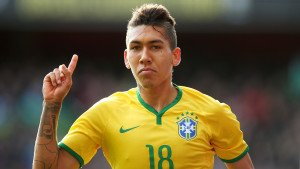 Manchester United target Roberto Firmino celebrating after scoring a goal in Bundesliga.