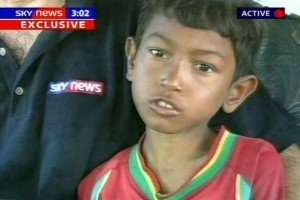 Seven-year-old boy, Martunis after the TsunamiFound: Seven-year-old Martunis was found on a beach in Indonesia