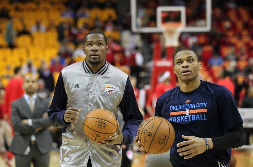 Kevin Durant and Thunder teammate Westbrook