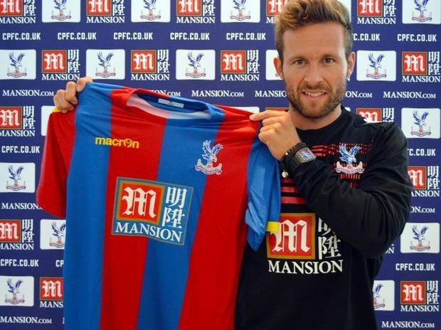 Yohan Cabaye being unveiled as a Crystal Palace player