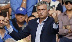 Jose Mourinho during the game vs Swansea