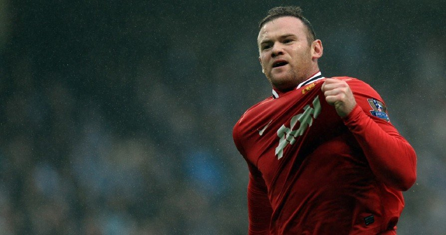 Rooney Celebrating his goal against man City
