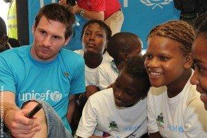 Barcelona superstar visits Port-au Prince, Haiti as UNICEF goodwill ambassador