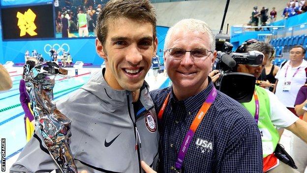 Bob Bowman and Michael Phelps