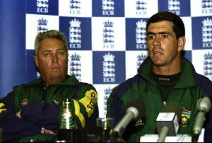 South African Coach Bob Woolmer and Captain Hansie Cronje