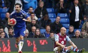 Fabregas celebrates the second goal