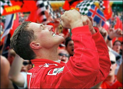 Michael Schumacher wins the Japanese GP
