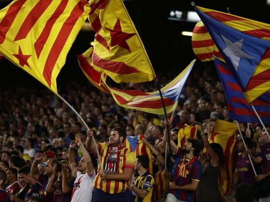 Catalan flags and booing of the national anthem of Spain by FC Barcelona fans have become a common thing