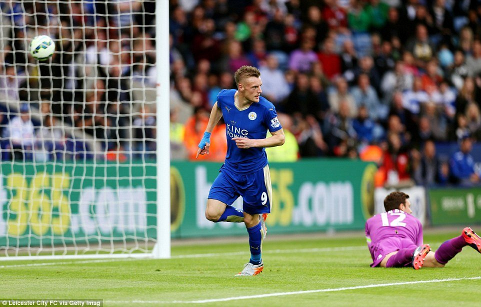 Jamie Vardy is off to a flying start in the Premier League so far
