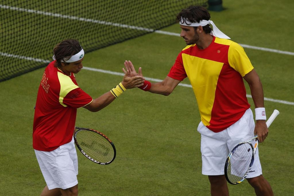 Olympic-Games.-David-Ferrer.-Feliciano-Lopez.-Outfits.
