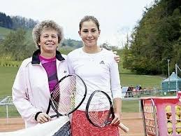 Belinda Bencic with Melanie Molitor