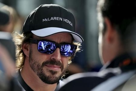McLaren Formula One driver Alonso speaks to the media ahead of the Russian Grand Prix in Sochi