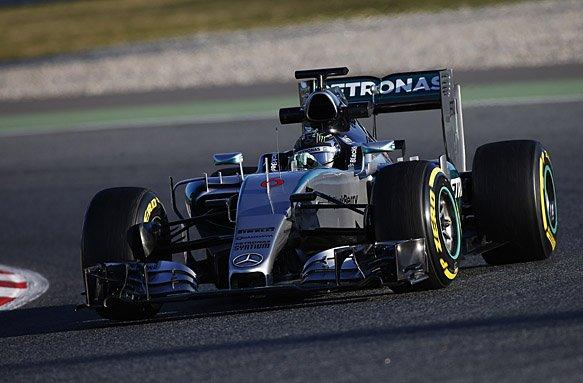 2015 F1 Pre Season Test 3 - Day 2 Circuit de Catalunya, Barcelona, Spain. Friday 27 February 2015. Nico Rosberg, Mercedes F1 W06 Hybrid. World Copyright: Glenn Dunbar/LAT Photographic. ref: Digital Image _W2Q4445