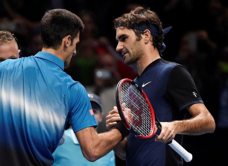 Roger Federer Novak Djokovic