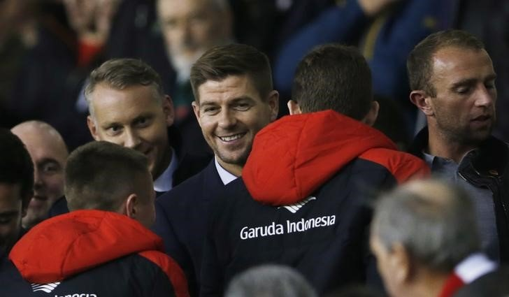 Football - Liverpool v Crystal Palace - Barclays Premier League - Anfield - 8/11/15 Former Liverpool player Steven Gerrard in the crowd Action Images via Reuters / Lee Smith Livepic