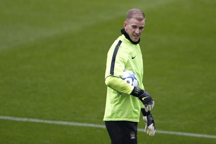 Football Soccer - Manchester City Training - Manchester City Training Ground - 24/11/15 Manchester City's Joe Hart during training Action Images via Reuters / Ed Sykes Livepic / Files