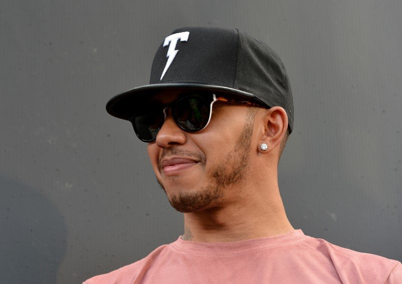 Nov 22, 2015; Homestead, FL, USA; Formula One driver Lewis Hamilton in attendance before the Ford EcoBoost 400 at Homestead-Miami Speedway. Mandatory Credit: Jasen Vinlove-USA TODAY Sports