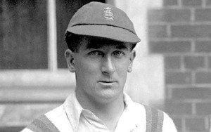 Harold Larwood, a fast bowler in Bradman's time.