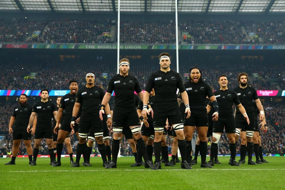 The All Blacks before the 2015 Rugby World Cup final, which they won in a convincing manner.