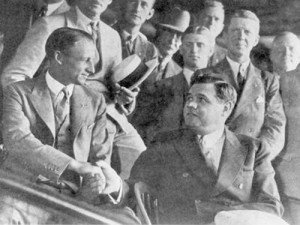The Great Bambino, Babe Ruth, invites The Don, Sir Donald Bradman, to his personal box in the Yankees Stadium.