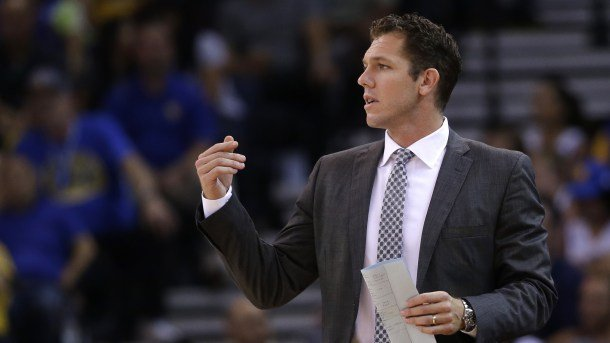 Luke Walton is the main leading the Warriors from the courtside bench as Steve Kerr continues his recovery from multiple back surgeries.