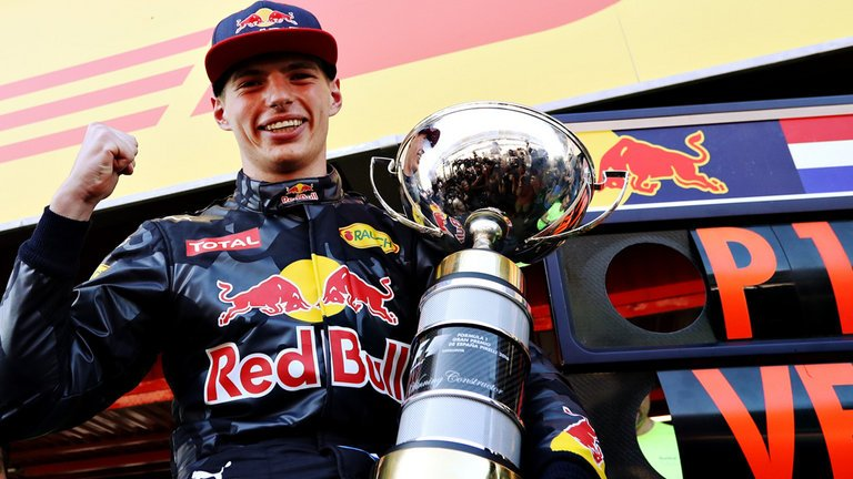 Max will now go down as the youngest winner in F1 history.