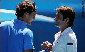 Federer and Santoro. Credits- getty images