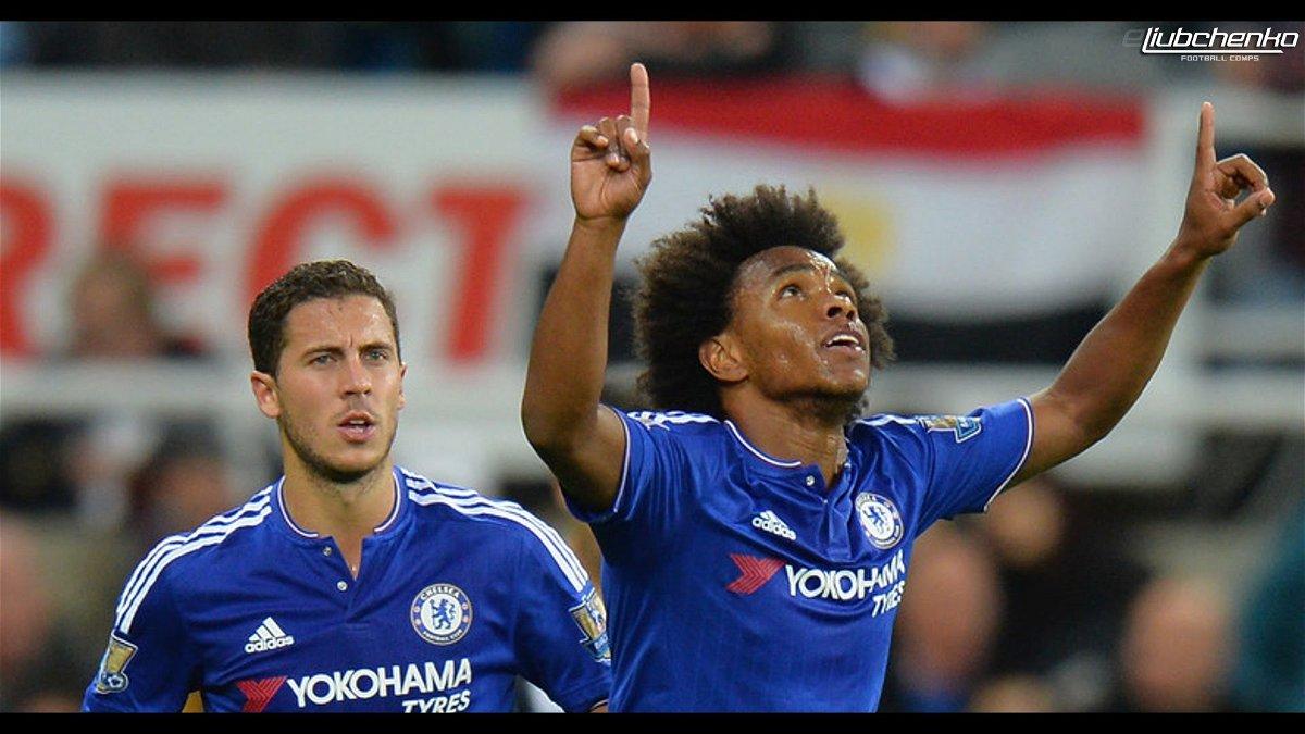 Willian Celebrating His Goal For Chelsea