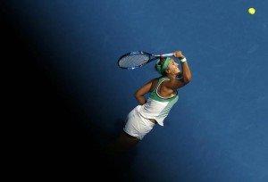 Belarus' Victoria Azarenka serves during her third round match against Japan's Naomi Osaka at the Australian Open tennis tournament at Melbourne Park, Australia, January 23, 2016. REUTERS/Jason Reed
